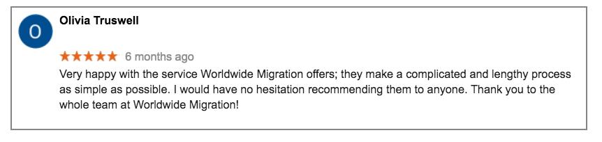 Worldwide Migration Partners E2 Visa Review OT