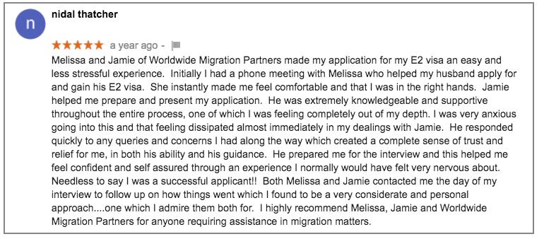Worldwide Migration Partners E2D Visa Experts