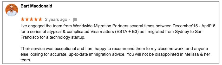 Worldwide Migration Partners E3 Visa Experts